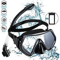 Gafas Buceo con Tubo de Seco superior gafas snorkel con Visión de 180° Lenes de