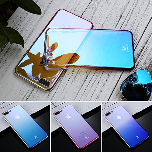 FLOVEME For iPhone 6 6S Plus Case 5 5S SE Gradient Blue-Ray Light Case For Apple iPhone 7 7 Plus 5S Clear Accessories Cover Capa (Pink iPhone 5S SE) Pink iPhone 5S SE