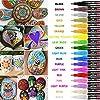 RATEL Pennarelli a Vernice acrilica, 18 Colori Premio Impermeabile Pittura Arte Pennarello Set Vernice Permanente… 10 spesavip