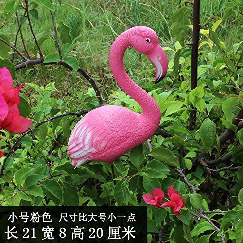 KOONNG Decorazione del Giardino Cortile di Nozze Decorazione della Finestra Prato Mostra Oggetti Artificiali Decorazione Animale Flamingo Ornamenti, Piccolo Ros