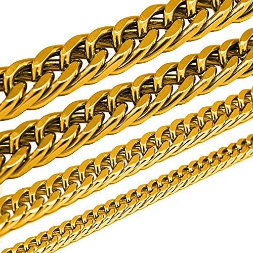 SoulCats®chainmail roi bracelet set o. acier inoxydable d'or unique chaîne 50 cm + bracelet
