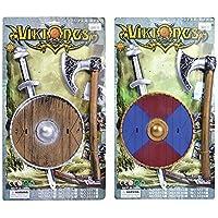 Viking Sword, Shield + Axe Set (accesorio de disfraz)