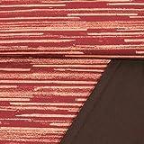 French Terry Stoff Streifen weinrot 180 cm breit Modestoffe