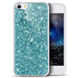 Coque iPhone 5S,Coque iPhone SE,Coque iPhone 5,ikasus Silicone souple Diamants...