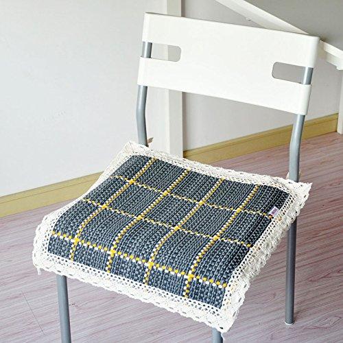 CLG-FLY semplice batuffolo di cotone sede four seasons tavolo da pranzo sedia sedia per ufficio cuscino ,selleria 40x40cm,grigio (imbottitura di cotone)