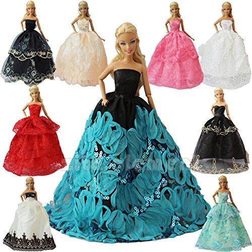 andgefertigte Mode Partykleider Kleid Outfit für Barbie Kleidung XMAS GIFT-Zufälliger Stil (Barbie Geburtstags-outfit)