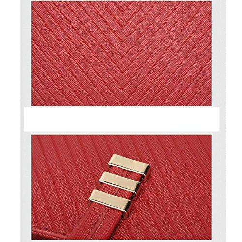 Borsa Multicolore Classica Moderna Classica Moderna Classica Della Maniglia Di Formato Delle Donne Red