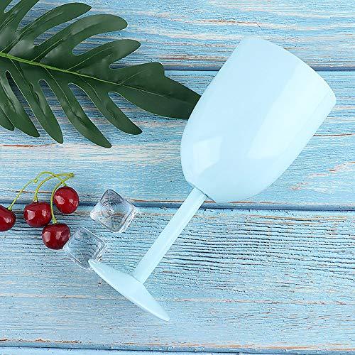 TAOtTAO Water Cup Edelstahl-Stemless-Wein-Wasser-Schalen-Doppelte Wand-Vakuumisolierung (A)