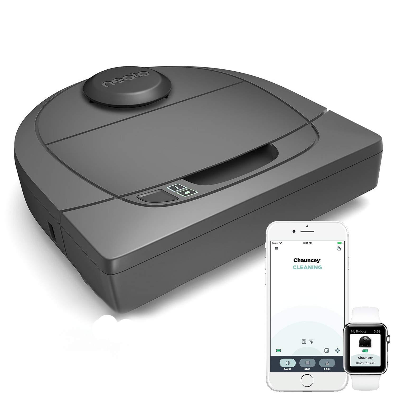 Neato Robotics Botvac D301 Connected – Saugroboter Alexa-kompatibel & für Tierhaare – Staubsauger Roboter mit…