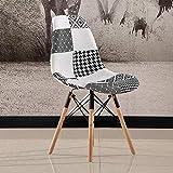 ChuanHan Chaise de Salle à Manger Chaise Nordique en Bois Massif, Chaise en Plastique Simple, Chaise de Réception en Tissu Plastique, Mobilier Créatif, c, 44 * 46 * 82cm...
