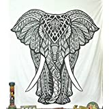 Elephant Tapestries Psychedelic Wall Hanging Elephant Tapestry Hippie Tapestry Wall Tapestries Bohemian Tapestries Indian Tapestry Wall Hanging Decor BY GMAC