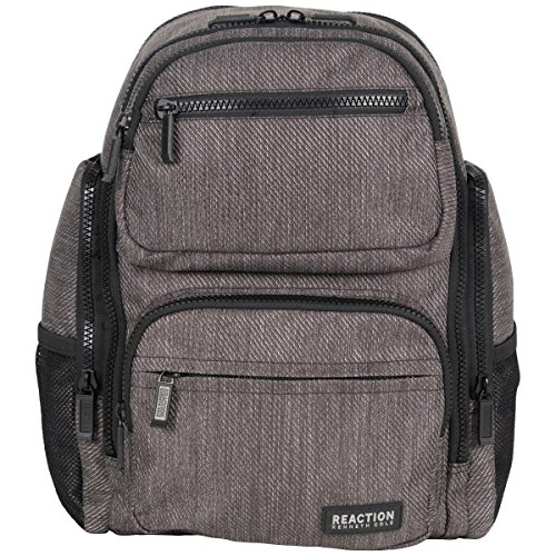 Kenneth Cole Reaction Heathered-Twill 600d Polyester Dual Compartment 15.0' Computer Travel Backpack image
