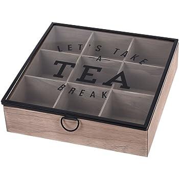 tee beh lter aus holz mit 9 f chern teebox teekiste. Black Bedroom Furniture Sets. Home Design Ideas