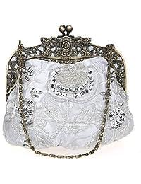 e89b56479 Flada damas y mujeres Vintage lentejuelas bolso hecho a mano abalorios noche  embragues fiesta de boda