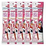 5x Dolfin Polaretti magic milk Trinkhalme in Erdbeere Geschmack, 5 Strohhalme mit 6 g