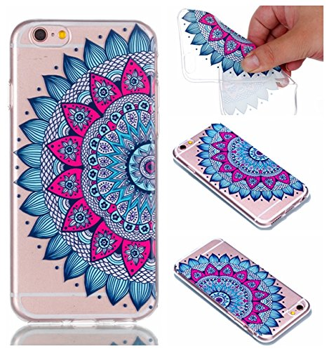 iphone 6 Plus / 6S Plus Hülle,iphone 6 Plus / 6S Plus Case,iphone 6 Plus / 6S Plus Silikon Hülle [Kratzfeste, Scratch-Resistant], Cozy Hut iphone 6 Plus / 6S Plus Hülle TPU Case Schutzhülle Silikon Cr Datura Blumen