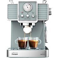 Cecotec Power Espresso 20 Tradizionale Espressomachine 1350 W 20 Bar Manometer Heizblock Kaffee Tee Öko Ohne Kapseln…