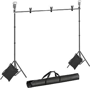 Neewer Hintergrundständer 2 1x3m Fotostudio Musselin Kamera