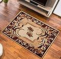 Teppich für Wohnzimmer Teppich mit Blätter Muster