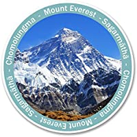 # 6138montagna Monte Everest adesivi per auto/Laptop/Viaggi bagagli, regalo, 2x