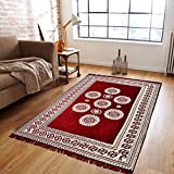 #5: Zesture Bring Home Premium Living Room Valvet touch Carpet rug -(7 X 5 , Multicolor)