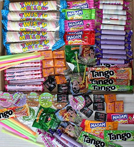 Box of 100 mixed childrens sweets. Ideal for wedding favours, prizes, party bags, pinata fillers (or just sit and eat them yourself)! This box exclusive to Sweet Experience.