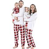 BOBORA Pijamas Familiares de Navidad, Conjunto de Ropa de Dormir de algodón Merry Christmas Papá Noel Estampado con Parte de