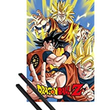 Póster + Soporte: Dragonball Z Póster (91x61 cm) Goku Y 1 Lote De 2 Varillas Negras 1art1®