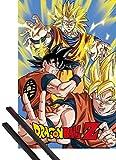 1art1® Póster + Soporte: Dragonball Z Póster (91x61 cm) Goku Y 1 Lote De 2 Varillas Negras