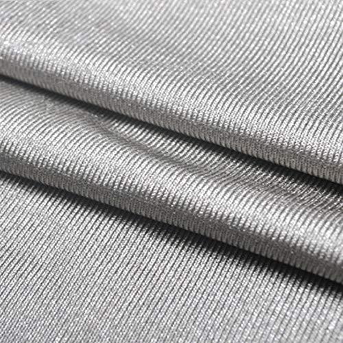 Zlynz Tessuto di Protezione dalle Radiazioni, Tuta Anti-Radiazioni, Argento Versione Tessuto a Maglia, 100% Tessuto Argento,150cm*300cm