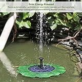 Solar brunnen Garten Pool Lotus Blatt Schwimmender Solar brunnen Brushless Motor 1.4W 50cm Höhe für Garten pflanzen Pool Teich Bewässerung