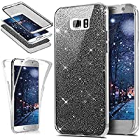 Galaxy S6 Edge Plus Hülle,KunyFond Galaxy S6 Edge Plus Silikon Hülle 360 Grad Fullbody Case Bling Sparkle Glänzend... preisvergleich bei billige-tabletten.eu
