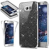 Galaxy J2 Prime Hülle,KunyFond Galaxy J2 Prime Silikon Hülle 360 Grad Fullbody Case Bling Sparkle Glänzend Glitzer... preisvergleich bei billige-tabletten.eu