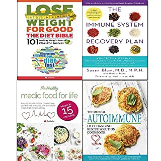 Immune system recovery plan,medical autoimmune life,healthy medic food and diet bible 4 books collection set
