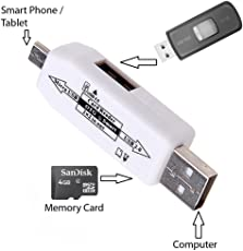 SBA999 Lenovo A7000 Turbo OTG Smart Connection Card Reader Kit To Attach Pendrive, Mouse, Keyboard, Card Reader - Color May Vary