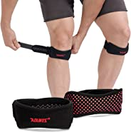 2 Pack Knee Patella Support Strap, Adjustable Knee Brace and Patellar Tendon Support Band Pad for Knee Pain Relief from Patel