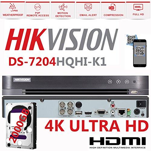 HIKVISION 4K 3MP 4CH Turbo HD DVR 4-Kanal 1080P CCTV hd-tvi Hybrid Digital Video Recorder TVI ds-7204hqhi-k1(kein HDD) (Hybrid-recorder Tb 2)