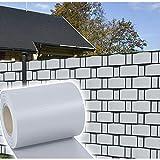 HG® 65mx19cm Sichtschutz Streifen Doppelstabmattenzaun PVC Sonnenschutz für den Gartenzaun oder Balkon inkl. Befestigungsclips