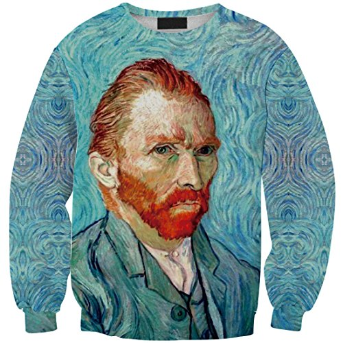 YICHUN Femme Fille T-Shirts de Loisir Tops Tee-Shirt Fin Sweat-shirts Sweaters Pulls Blouse Pull-Overs Imprimé Portrait Homme 4#