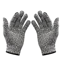 QHGstore Cut Resistant Gloves EN388 Food Grade Kitchen Level 5 Cut Protection(1 pair)