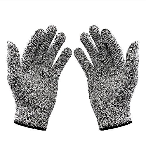 QHGstore Schnittschutzhandschuhe EN388 Food Grade Küchen Stufe 5 Schnittschutz (1 Paar)