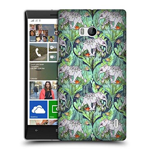 Head Case Designs Offizielle Micklyn Le Feuvre Baby Elefant Und Dschungel-Abenteuer Tiere Ruckseite Hülle für Nokia Lumia Icon / 929/930