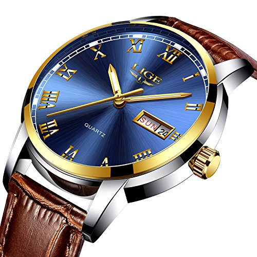 Herren Uhren Fashion Einfache Quarzuhr Fashion Casual Luxus Business Armbanduhr Wasserdicht Herren Sport Uhren < blau Uhren>