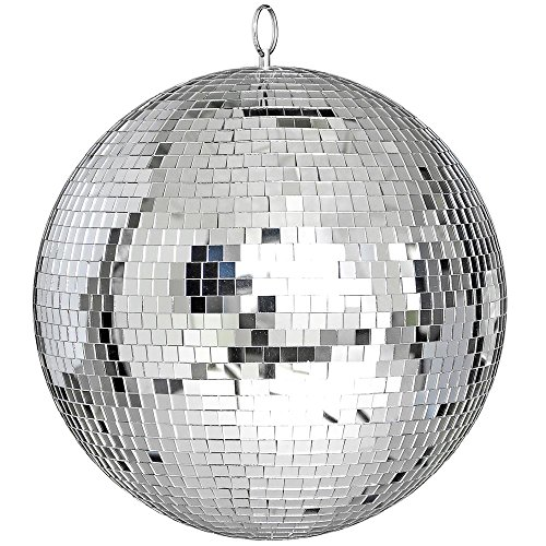 reasejoy-300mm12-party-disco-mirror-ball-lightweight-glass-lighting-effect-silver