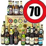 Geschenkideen für Männer zum 70. | 24 Biere | Biersorten aus Welt und D