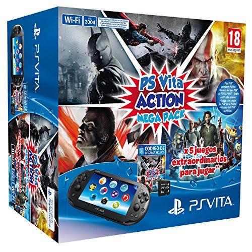 Playstation Vita-Konsole + Action Mega Pack + Speicherkarte, 8GB Jvc Pack