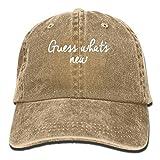 Bag hat Vintage Guess Whats New Pattern Jeans Hat réglable Casquette unisexe Casquette Natural