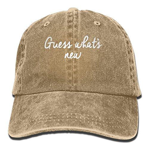 Preisvergleich Produktbild Vintage Guess Whats New Pattern Jeans Cap Adjustable Hat Unisex Baseball Caps Natural