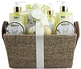 BRUBAKER Cosmetics Bade- und Dusch Set Vanille Rosen Minze Duft - 9-teiliges Geschenkset in Henkelbox