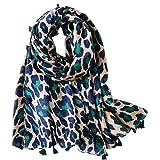Micoop Women's Chic Leopard Pattern Scarf Long Large Animal Print Shawl Wrap